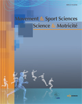 Movement & Sport Sciences - Science & Motricité Cover page